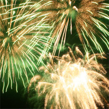green-gold-fireworks